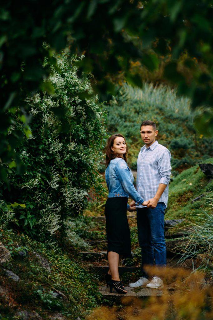 фотосессия в ботаническом саду Love story