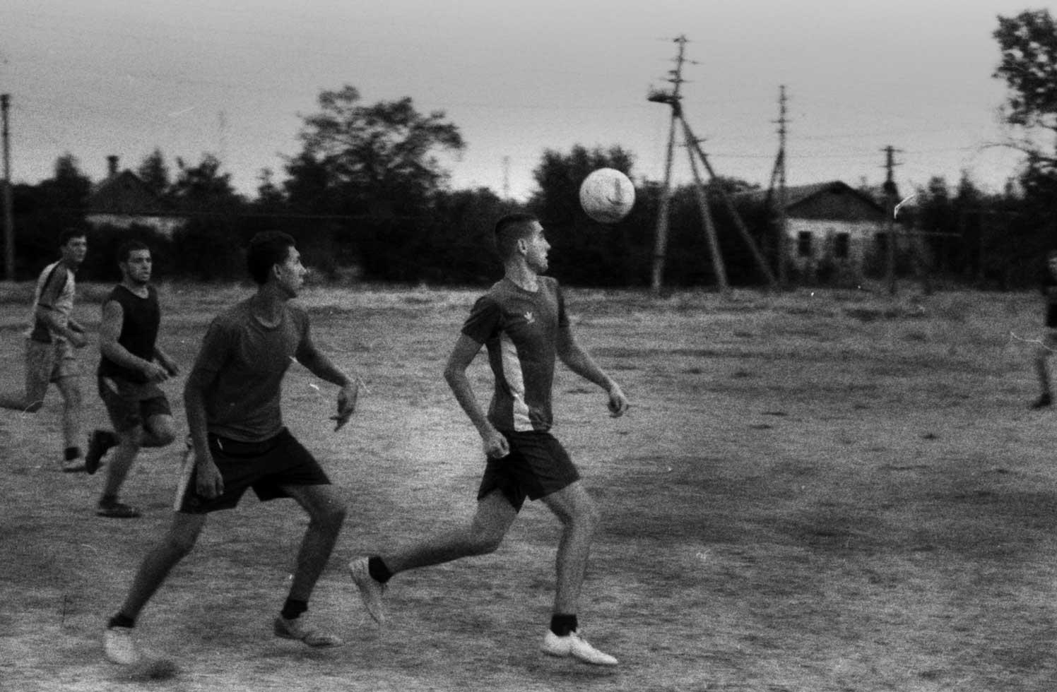 футбол на пленку