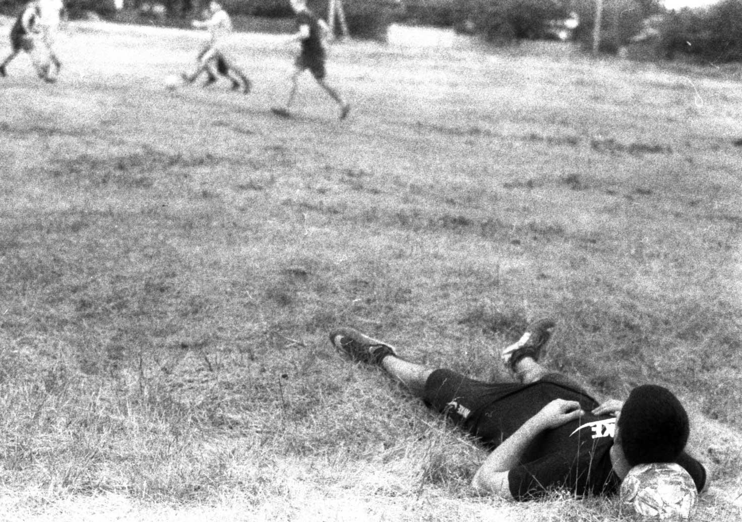 черно-белая фотопленка футбол