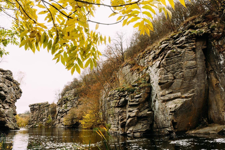 Буки каньон скалы Украина