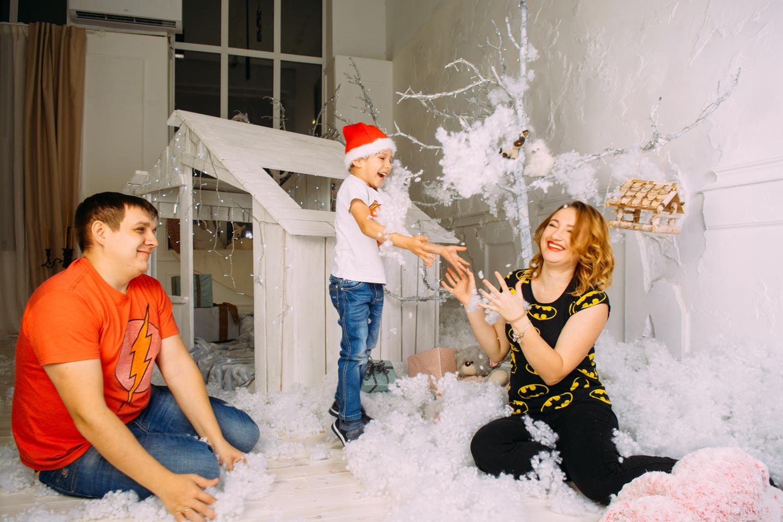 Семейная фотосессия в Киеве на Новый год