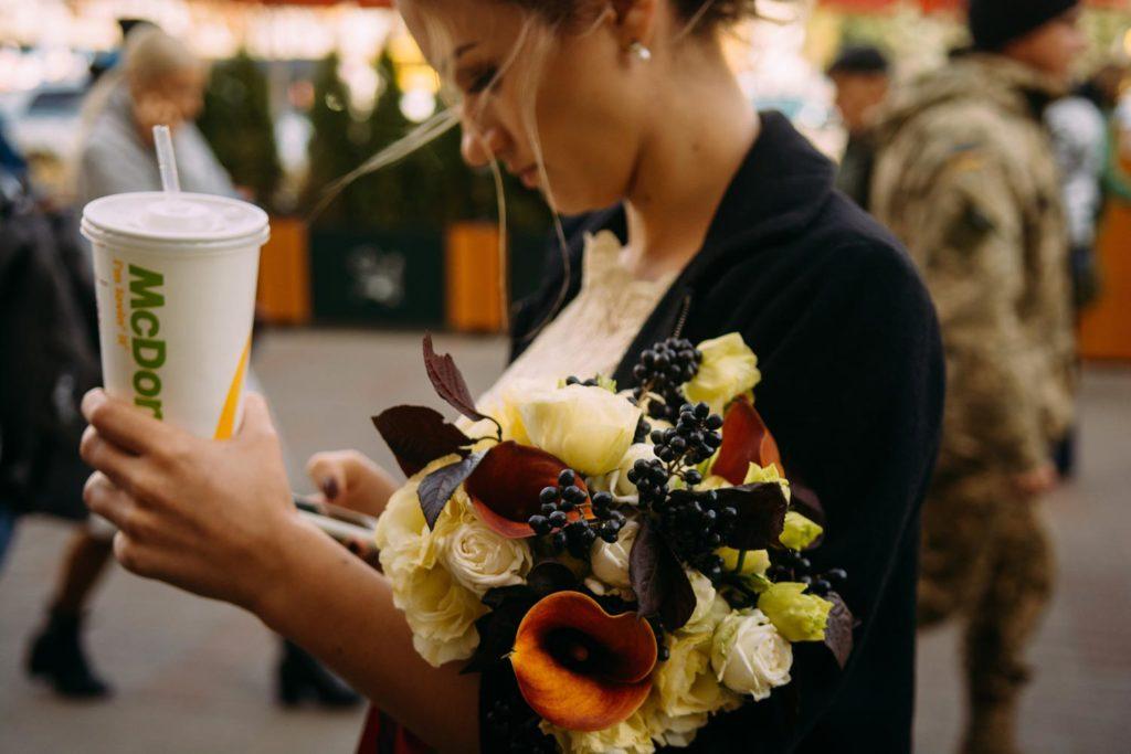 Свадьба в McDonald's Киев