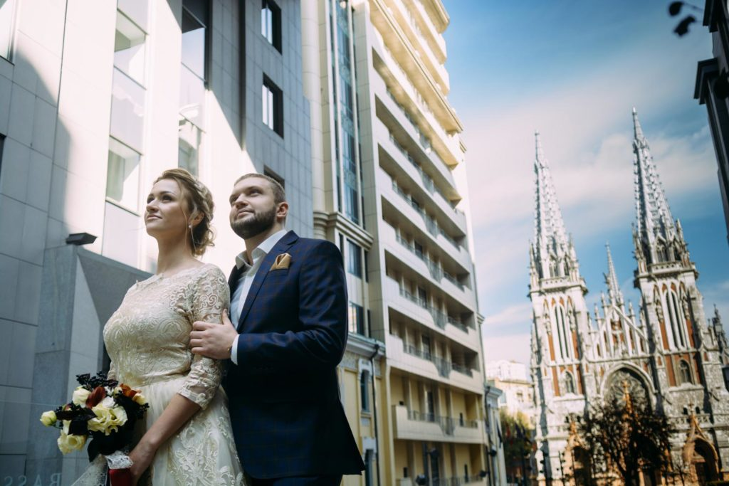 Свадебная фотопрогулка Николаевский костел
