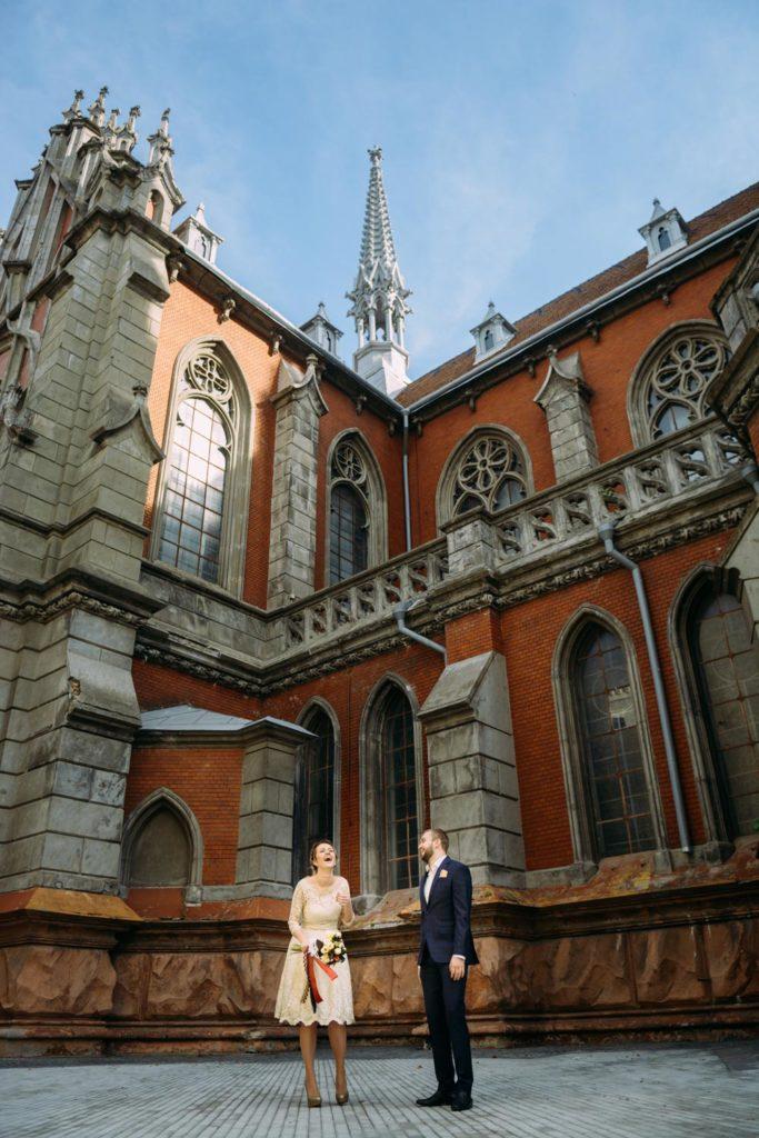 Николаевский костел свадебная фотосессия