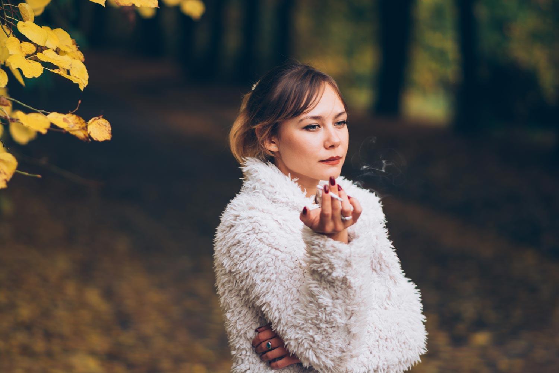 Фотосессия октябрью осень листья Киев